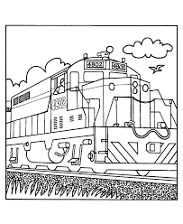 Small Picture Trains and Railroads Coloring pages Railroad Train coloring