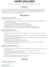 Resume For Cna Best Resume Templates O Copy Com