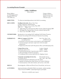 Objective Accounting Resumes Resume Accounting Resume Example Distinctive Documents