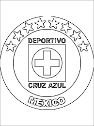 Small Picture Emblem of Cruz Azul coloring page Coloring pages