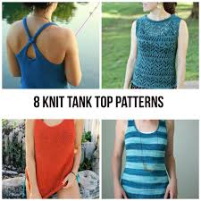 Tank Top Pattern Magnificent Knit Tank Top Patterns For Summer