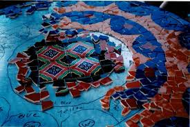 glass tile circles pick up the pieces from broken to sumptuous mosaic table white backsplash designs