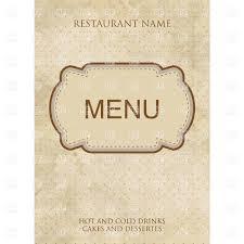 Fancy Restaurant Menu Vintage Style Restaurant Or Cafe Menu Design With Fancy Frame Stock Vector Image