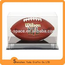 Football Display Stand Plastic Grand Stand Plastic Football Display Case Styrene Football Holder 14