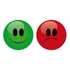 set mit 9 magnetischen smileys grüne vorderseite rote rückseite