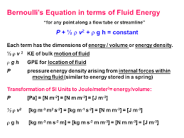 bernoulli s equation in terms of fluid energy