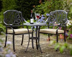 hartman amalfi 2 seater bronze bistro garden set free cushions