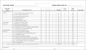 Supplier Scorecard Example Supplier Scorecard Template Excel Performance Evaluation