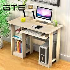desktop computer furniture. GTE Modern Design Eco-friendly Furniture Computer Table Study Shelf Wooden Desk - Beige Malaysia Desktop