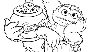 Free Printable Coloring Pages Sesame Street Characters Sesame Street