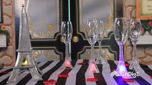 party supplies glassware led eiffel tower flutes shindigz com you