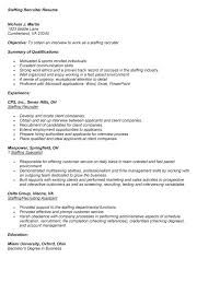 recruiter job description. Recruiter Resume Example