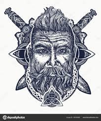 тату варвар викинг варвар викинг тату бородатый варвар