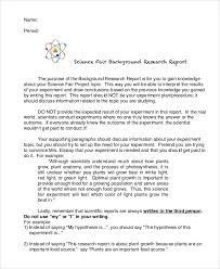 Science Report Format Background Report Templates 7 Free Word Pdf Format