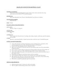 Basketball Coach Resume Sample basketball coach resume samples Enderrealtyparkco 1