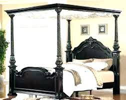 Wood Canopy Bed Queen Frame With Curtains Full Wooden Home ...