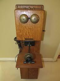antique rare stromberg carlson two box hand crank golden oak wall phone superb