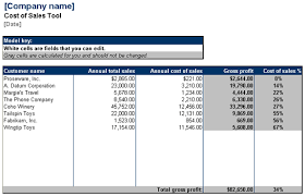 Download Cost Of Sales Tool