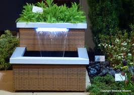 Wicker Steel Contemporary Outdoor Water Fountains