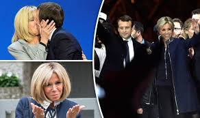 「Brigitte Macron biography says husband wrote steamy book about their romance」の画像検索結果