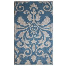 jean pierre rox blue lagoon grey 2 ft x 4 ft area rug