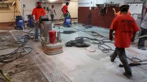 Epoxy Kitchen Flooring Brilliant Epoxy Floors Inc Grinding Off A Coating In A Commercial