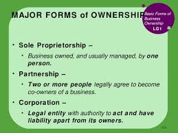 forms of ownership bus110 chap 5 how to form a business
