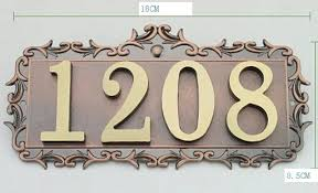 new brand house office apartment number sign address plaque metal copper custom 4 letters or numbers
