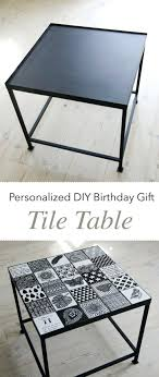 Tile Table Tops Personalized Birthday Gift Mom Top Patio Furniture
