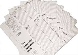 Treeseek 5 Generation Descendants Chart 10 Pack Blank Genealogy Forms For Family History And Ancestry Work