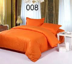 orange cotton satin stripe 4pcs bedding sets home bedclothes set bed linens duvet cover quilt flat