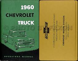 1960 chevrolet van truck wiring diagram manual reprint 1960 chevrolet pickup truck owner s manual reprint package