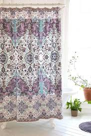 purple and teal shower curtain magical thinking florin urban plastic curtains dark