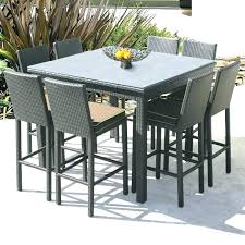 tall patio table. Patio: Tall Patio Set Table Metal Furniture Sets Pieces The Home Depot Design Bar Height