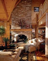 12 fancy log cabin with leather sofa and stone fireplace cabin fireplace y59 fireplace