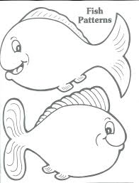 Blank Fish Coloring Pages