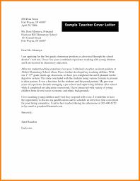 Education Cover Letter 10 General Teacher Cover Letter Cover Letter
