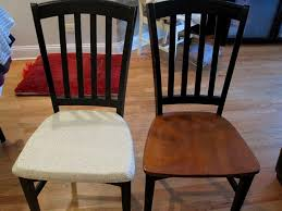 image of diy dining chair seat covers