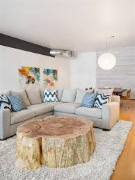 1 a large tree trunk slice used as a living room coffee table awesome tree trunk table 1