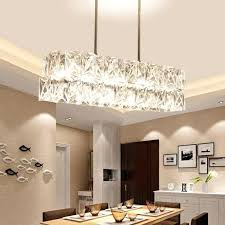 dining table lamps chandeliers long restaurant chandeliers creative wrought iron crystal bar lighting modern minimalist living