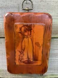 Vintage Bonnie Wooden Wall Plaque Signed by Carol 6/72 | eBay