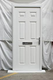 victorian left hand white posite front door