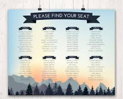 table chart design. mountain design wedding seating chart, nature decor, blue dusk yellow wedding, guest arrangements, table plan chart #2556235 -