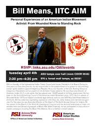 n legal program just another asu law newsletters site asu american n studies and the office of american n initiatives are sponsoring a talk by mr bill means titled personal experiences of an