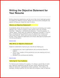 Resume Opening Statement Apa Example