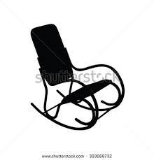 Rocking Chair Vector Silhouette  R