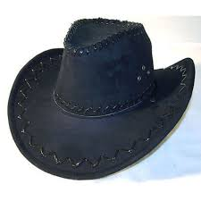 black leather cowboy hat mens hats las caps womens western headwear cap free on orders over 45 23174146