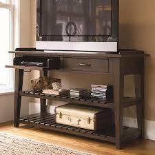 flat screen tv furniture ideas. maximizing small living room spaces with brown wood flat screen tv console table shelf and cassette storage plus drawer in the corner ideas tv furniture i