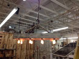 rustic reclaimed wood beam chandelier with pulley rustic dining room