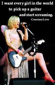 Courtney Love on Pinterest | Frances Bean Cobain, Kurt Cobain and ...